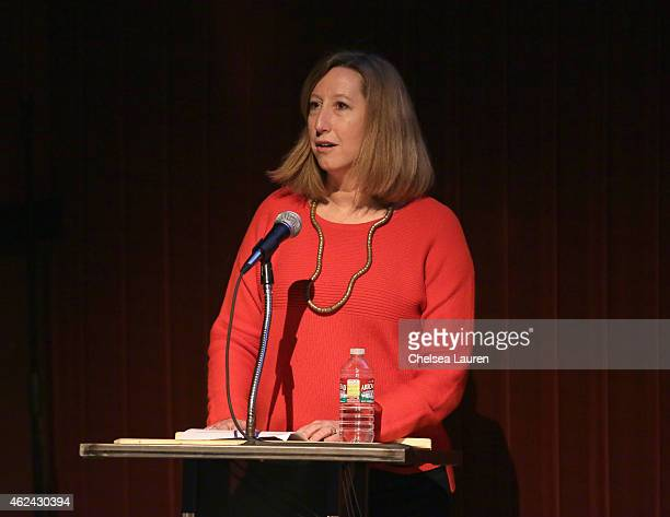 Sundance Institute Executive Director Keri Putnam speaks at the Gates Foundation Short Film Screening during the 2015 Sundance Film Festival on...