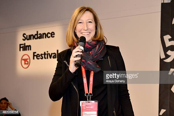 Sundance Institute Executive Director Keri Putnam speaks onstage during Documentary Film Program Reception during the 2015 Sundance Film Festival on...