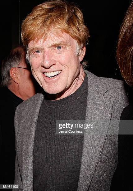 Sundance Institute President and Founder Robert Redford attends the 2008 Sundance Gala cocktail party at Roseland Ballroom on October 27 2008 in New...
