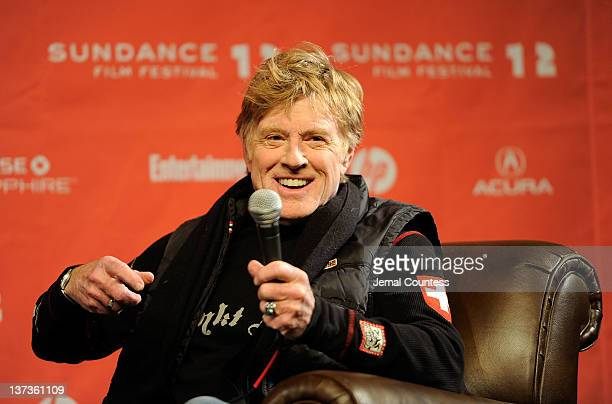 Sundance Institute President and Founder Robert Redford speaks at the opening day press conference held at the Egyptian Theatre during the 2012...