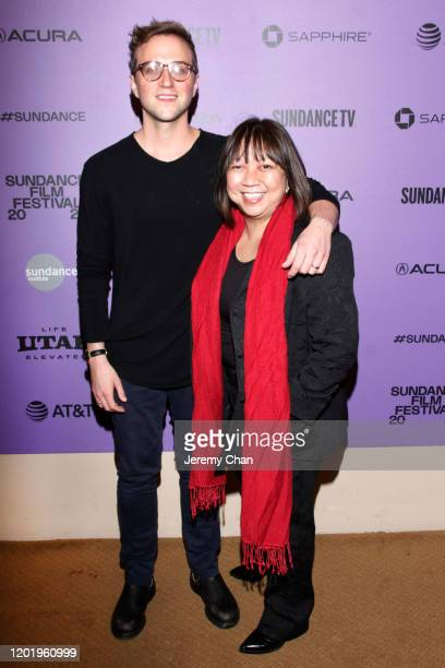 """Sundance Producer Harry Vaughn and Writer/Director Ramona S. Diaz attend the """"A Thousand Cuts"""" Premiere during the 2020 Sundance Film Festival at..."""