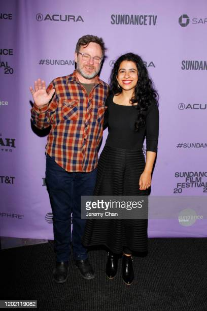 Sundance Programer Mike Plante and Director Hira Nabi attend the 2020 Sundance Film Festival Documentary Shorts Program 2 at Temple Theater on...