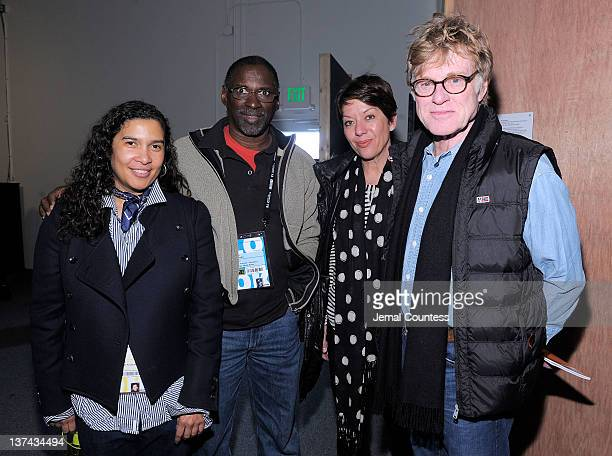 Sundance Senior Programmer Shari Frilot Artist Chris Johnson Sibylle Szaggars and Sundance Institute President and Founder Robert Redford attend the...
