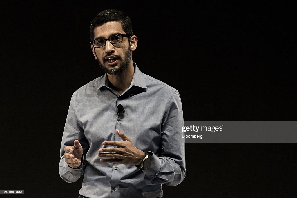 Google Inc. Chief Executive Officer Sundar Pichai Attends 'Google for India' Event