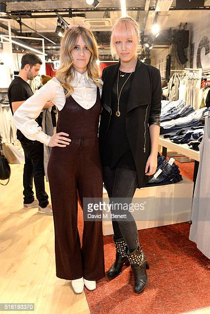 Sunday Girl and Amber Le Bon at the relaunch of the Bershka store Oxford Street on March 17 2016 in London England