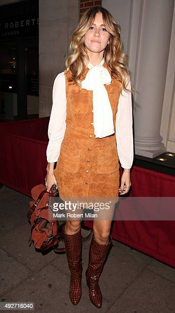 Sunday Girl attending the Hello Fashion Monthly's 1st Birthday Party on October 14 2015 in London England