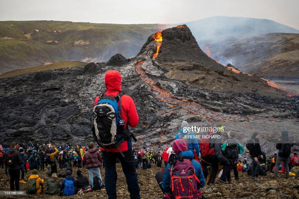ICELAND-VOLCANO-ERUPTION : News Photo