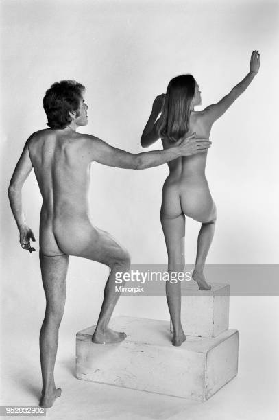 Sunday Mirror Sexologist Sries Illustrations feature Nude man and woman posing in the studio 17th December 1976