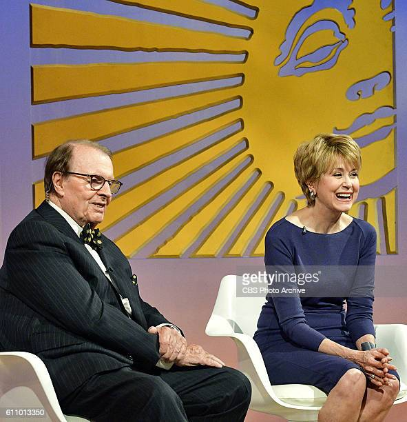 Sunday Morning retiring host Charles Osgood introduces Jane Pauley, his replacement to host the program