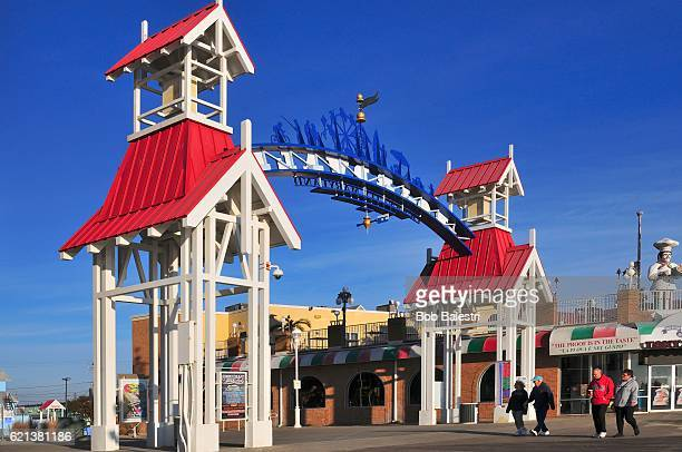 Sunday Morning Stroll on Ocean City Boardwalk