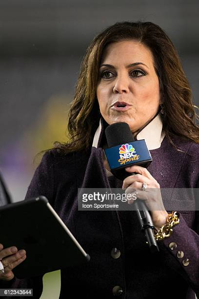 Sunday Night Football reporter Michele Tafoya during the NFL Football game between the Kansas City Chiefs and Pittsburgh Steelers at Heinz Field in...