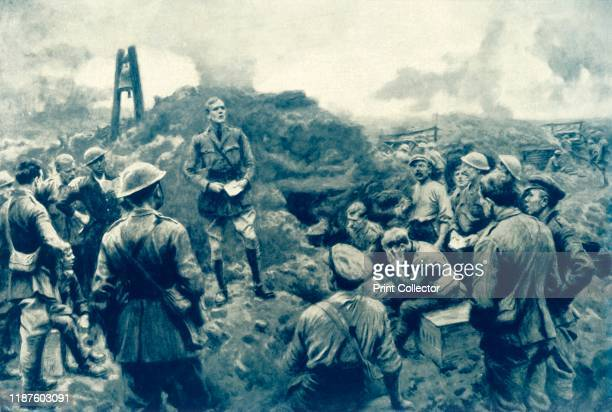 Chaplain Conducts Impromptu Service' 1917 From The War Illustrated Album De Luxe Volume VIII Ending The First Three Years edited by J A Hammerton...