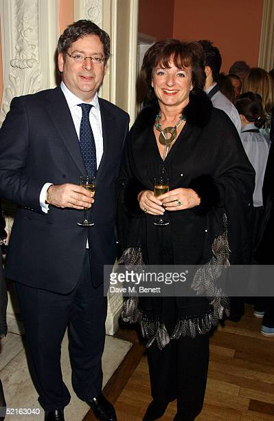 Sunday Telegraph Editor Dominic Lawson and wife Rosa Monckton attend the book launch for historian Andrew Roberts new book Waterloo at the English...