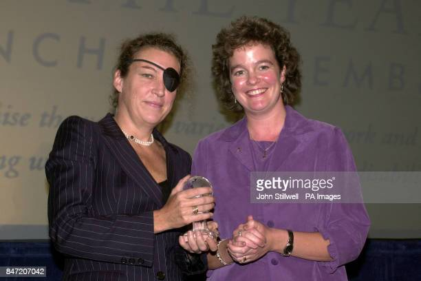 Sunday Times correspondent Marie Colvin is awarded the Pilkington Window to the World Award during the 'Women of the year Lunch 2001' at the Savoy...