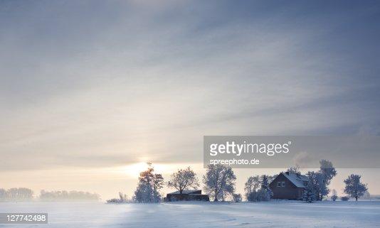 Sunday winter morning germany