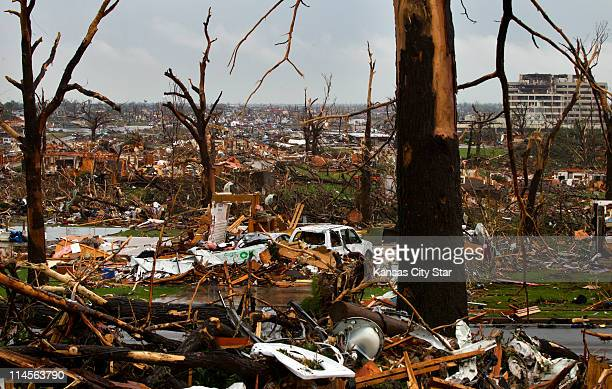Sunday's tornado left a path of ruin as far as the eye could see in Joplin, Missouri on Monday afternoon, May 23, 2011.