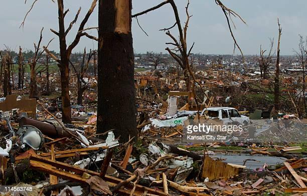 Sunday's tornado left a swath of destruction through Joplin, Missouri, Monday, May 23, 2011.