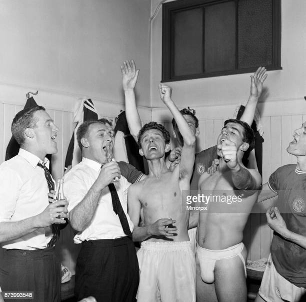 Sunderland 0 v Chelsea 1 Old League Division Two match at Roker Park Chelsea players celebrate promotion to League Division One after defeating...