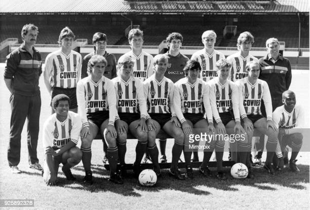 Sunderland A.F.C. Team shot 1984 - 1985 season. August 1984.
