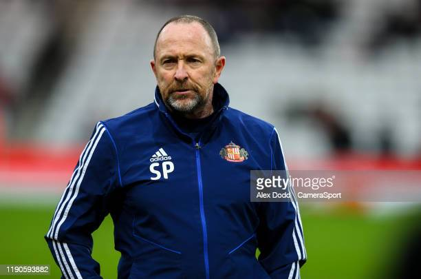 Sunderland assistant manager Steve Parkin during the Sky Bet League One match between Sunderland and Bolton Wanderers at Stadium of Light on December...