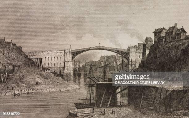 Sunderland Bridge England United Kingdom engraving by Lemaitre from Angleterre Ecosse et Irlande Volume IV by Leon Galibert and Clement Pelle...