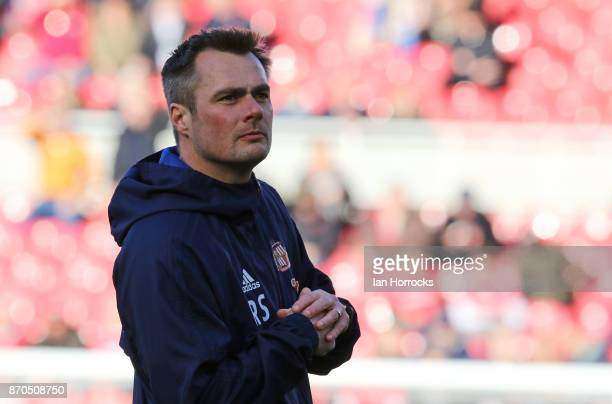 Sunderland coach Robbie Stockdale during the Sky Bet Championship match between Middlesbrough and Sunderland at Riverside Stadium on November 5 2017...