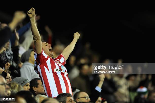 Sunderland fan shows his support during the Barclays Premier League Match between Wigan Athletic and Sunderland at The DW Stadium on November 28 2009...