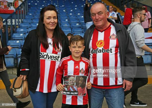 Sunderland fans show support for Bradley Lowery at Gigg Lane during a preseason friendly between Bury and Sunderland on July 7 2017 in Bury United...