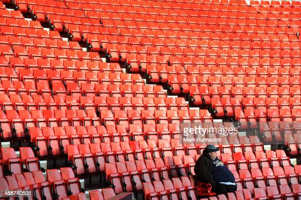 Sunderland fans wait for the start of the game during the Barclays Premier League match between Sunderland and Norwich City at the Stadium of Light...