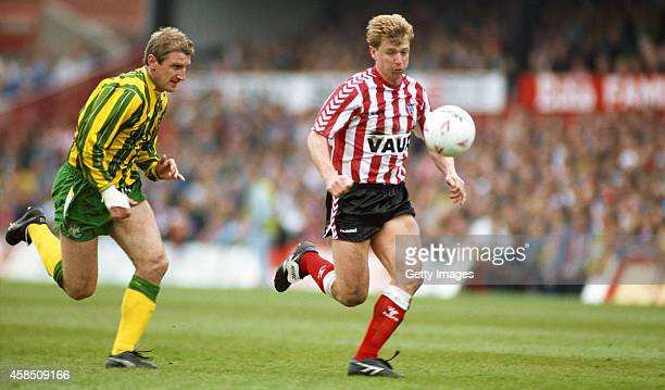 Sunderland forward Marco Gabbiadini and Newcastle defender John Anderson battle for the ball during a League Division Two play off semi final match...