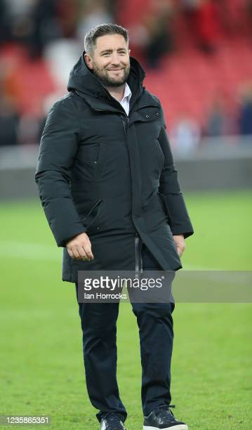 Sunderland head coach Lee Johnson during the Papa John's Trophy match between Sunderland and Manchester United at Stadium of Light on October 13,...