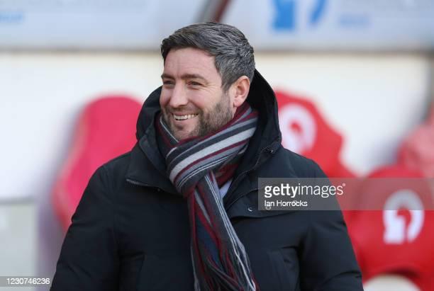 Sunderland head coach Lee Johnson during the Sky Bet League One match between Sunderland and Shrewsbury Town at Stadium of Light on January 23, 2021...