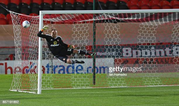 Sunderland keeper Mika during the Checkertrade Trophy match between Doncaster Rovers and Sunderland U21 at Keepmoat Stadium on October 3 2017 in...