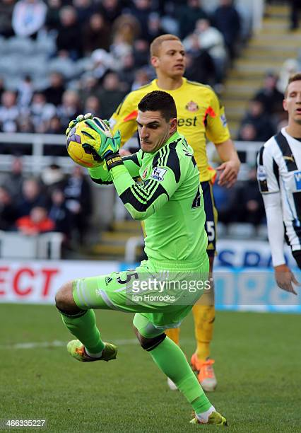 Sunderland Keeper Vito Mannone during the Barclays Premier League match between Newcastle United and Sunderland at St James' Park on February 01 2014...