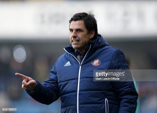 Sunderland manager Chris Coleman during the Sky Bet Championship match between Millwall and Sunderland at The Den on March 3 2018 in London England