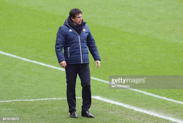 Sunderland manager Chris Coleman during the Sky Bet Championship match between Sunderland AFC and Sheffield Wednesday FC at Stadium of Light on April...