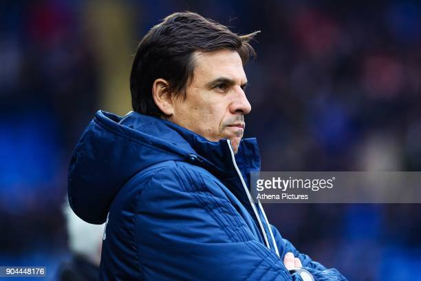 Sunderland manager Chris Coleman prior to kick off of the Sky Bet Championship match between Cardiff City and Sunderland at the Cardiff City Stadium...