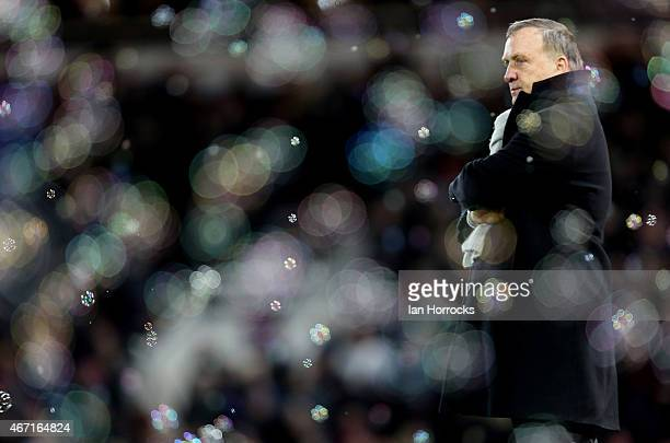 Sunderland manager Dick Advocaat after the West Ham goal was scored during the Barclays Premier League match between West Ham United and Sunderland...