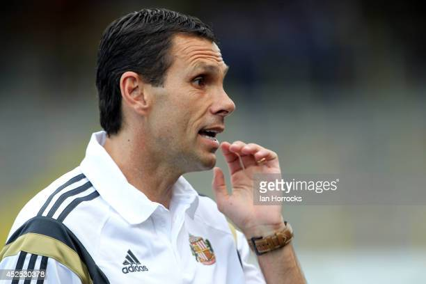Sunderland manager Gus Poyet during a PreSeason friendly match between Carlisle United and Sunderland at Brunton Park on July 22 2014 in Carlisle...