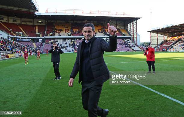 Sunderland manager Jack Ross at the final whistle during the Sky Bet League One match between Bradford City and Sunderland at Northern Commercials...