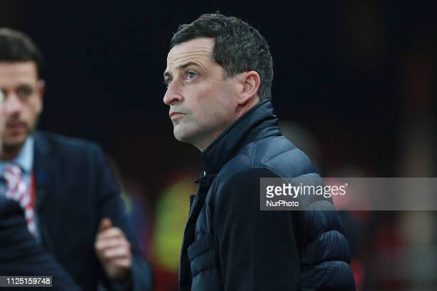 Sunderland manager Jack Ross during the Sky Bet League 1 match between Sunderland and Accrington Stanley at the Stadium Of Light Sunderland on Friday...