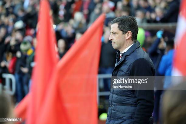 Sunderland manager Jack Ross during the Sky Bet League One match between Sunderland and Shrewsbury Town at Stadium of Light on December 29 2018 in...