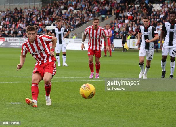 Sunderland manager Jack Ross on the final whistle during a preseason friendly between St Mirren FC and Sunderland AFC at St Mirren Park on July 21...