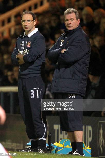 Sunderland manager Martin O'Neill with first team coach Steve Walford