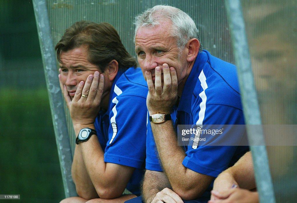 Peter Reid and Adrian Heath  : News Photo
