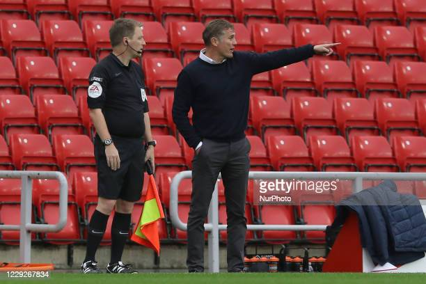 Sunderland Manager Phil Parkinson during the Sky Bet League 1 match between Sunderland and Portsmouth at the Stadium Of Light Sunderland on Saturday...