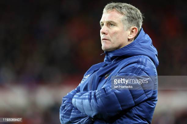 Sunderland manager Phil Parkinson during the Sky Bet League One match between Sunderland and Wycombe Wanderers at Stadium of Light on January 11,...
