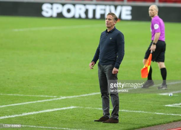 Sunderland manager Phil Parkinson during the Sky Bet League One match between Sunderland and Crewe Alexandra at Stadium of Light on October 20, 2020...