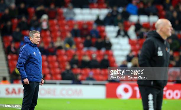 Sunderland manager Phil Parkinson watches on during the Sky Bet League One match between Sunderland and Blackpool at Stadium of Light on December 14,...