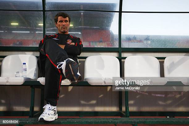 Sunderland manager Roy Keane looks on during the pre-season friendly match between Victoria and Sunderland at the Estadio Municipal de Albufeira on...